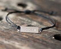 Vegan Bracelet - Hemp Bracelet - Vegan Jewelry - Animal Rights - Awareness - Love - Organic - Veganism - Organic Hemp -