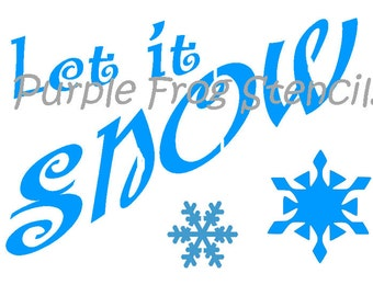 Let it Snow STENCIL 7 Mil Heavy Weight (Reusable) Holiday, Stencil, Winter