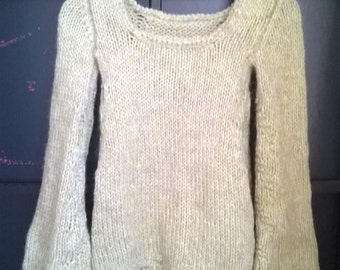 Sweater with flared sleeves