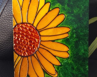 Paint fake stained glass - flower sun