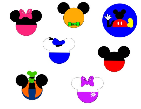 Mickey Mouse Clubhouse Mickey Heads Svg Files From