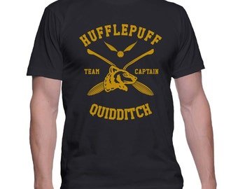 Hufflepuff Quidditch team Captain on MEN tee