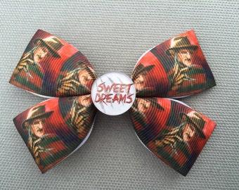 Handmade Nightmare on Elm Street Inspired Hair Bow