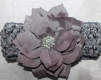 Baby Lotus Headband (Grey )