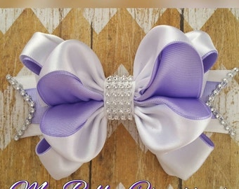 Lavender Hair Bow, Easter Bow