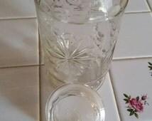 Vintage Planters peanut glass jar with lid