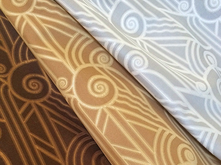 Art deco volute fabric for Art deco fabric