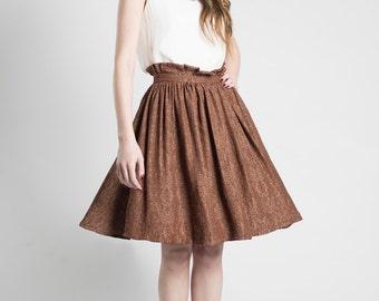 Jacquard High Waisted Full Skirt