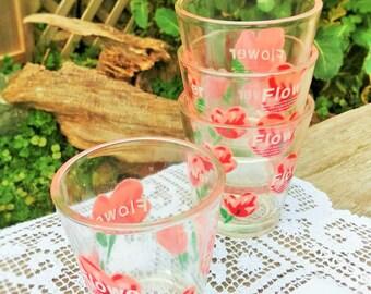 Set of 4 Mid Century Low Ball Glasses