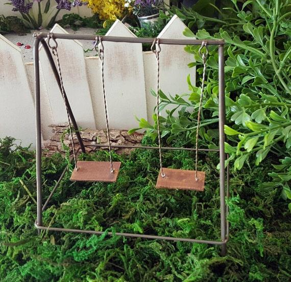 Miniature swing set for Mini swing set