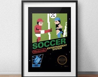 Soccer Original NES Box print