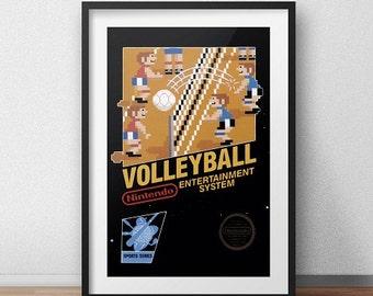 Volleyball Original NES Box print