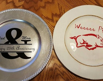 Decorated Charger Plates