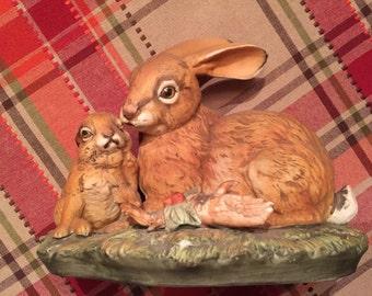 Vintage Masterpiece Bunny Figurine by Home Interiors