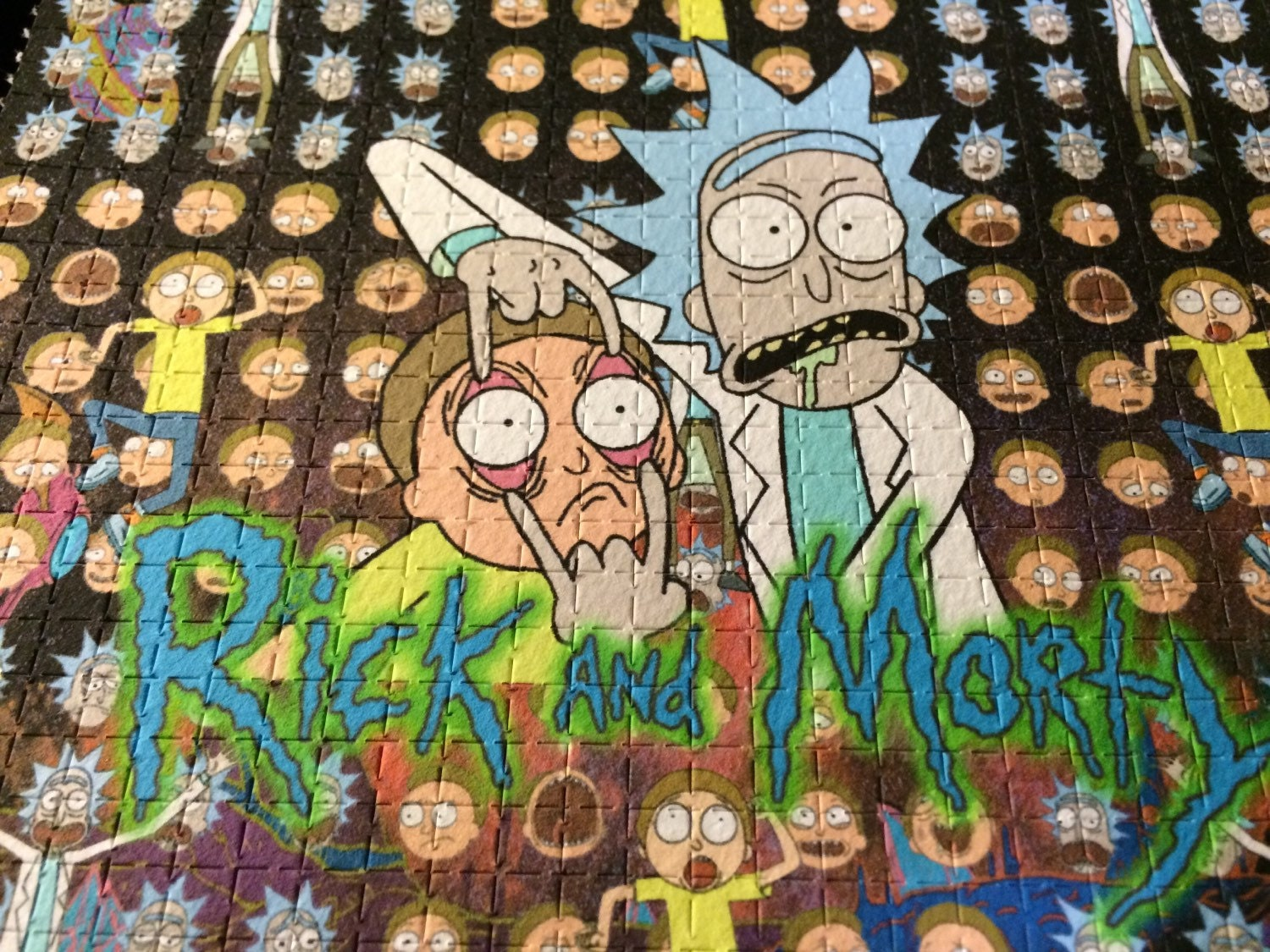 Rick And Morty Blotter Art 1 Page 9 Panel Sheet