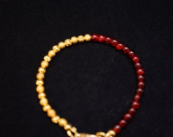Splash of red bracelet
