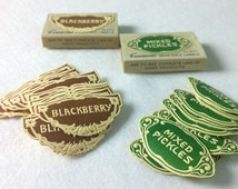 Variety of Vintage Dennison Canning Labels - Choice of Fruits/Vegetables!