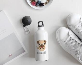 Personalised Pug Dog Cute Animal Children Customizable, Kids Gift, Animal Print, Gift for Kids, Pug Gifts, Pug Art, ABC155