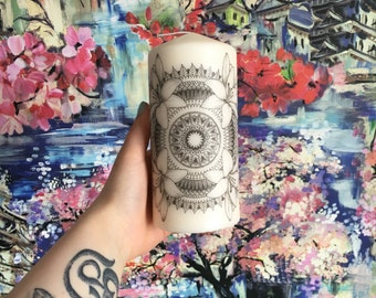 Lily Mandala Candle