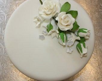 Rose Spray, 3 Available Colours, Cake Topper, Wedding, Sugar flowers, Gumpaste