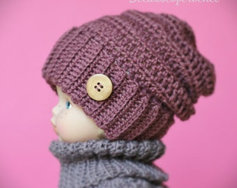 Crochet PATTERN for beginners - Slouchy Beanie. Quick and easy. Newborn, Toddler, Child, Adult sizes.