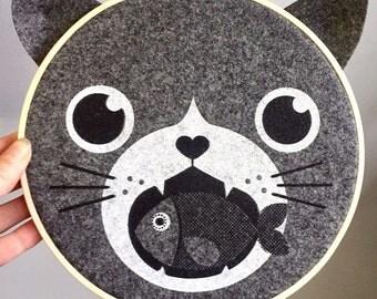 round wall decor, Cat Head