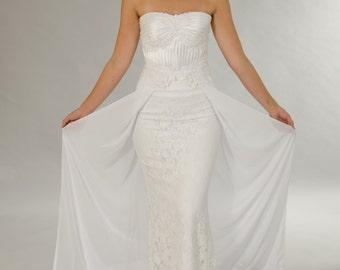 Lace wedding dress, Vintage wedding dress, White dress, Wedding dress, Bridal dress.