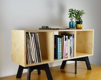 VINYL RECORD SHELVES, lp storage, retro bookcase, media console, tv stand