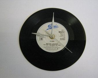 "Michael Jackson - ""The Way You Make Me Feel"" Record Wall Clock"