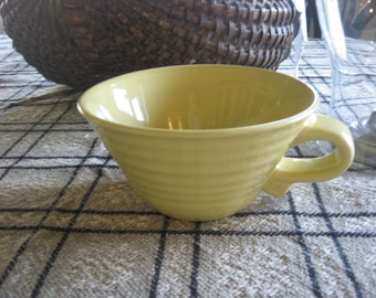 Vintage Ribbed Bauer/Fiesta? Bowl w/Handle Cup? Soup Bowl?