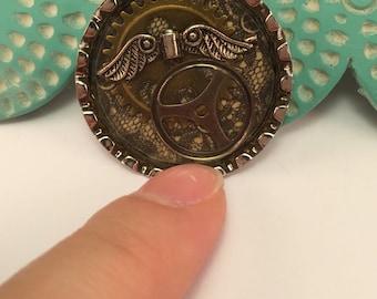 Steampunk Bottle Cap Pendant