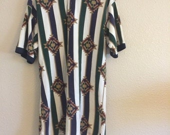 Vintage Native Print shirt