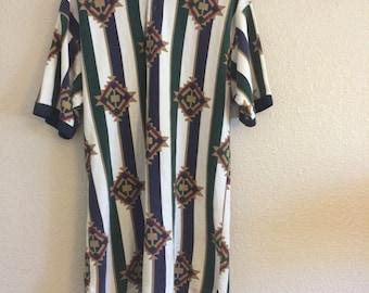 Vintage Native Print shirt