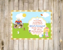Mother Goose Birthday Invitation First Printable Digital 1st Likes Loves Favorites Mary had a little lamb Humpty Dumpty Three Blind Mice