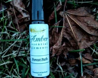 Forest Path: violet, lavender, cedarwood, and sandalwood natural perfume blend