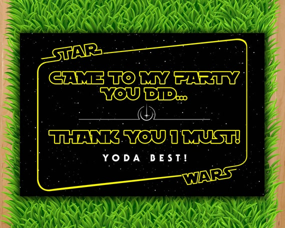 Universal image within star wars thank you cards printable free