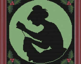 Cross Stitch - Christmas Stitcher Pattern - Chart -  Instant Download