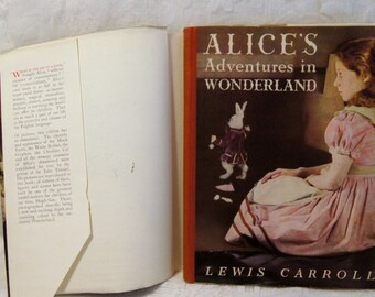 1948 Alice's Adventures in Wonderland Hardcover w/ illustrative photos/art.Used