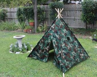 Handmade 6' Kids Teepee Tent
