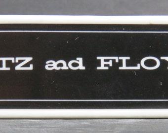 Fitz and Floyd Porcelain Shelf Dealer Display Sign Advertising Reduced!