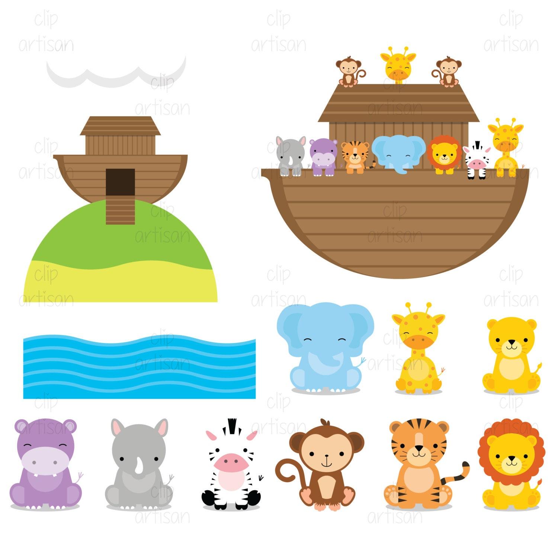 Noah's Ark Clipart / Ark Clip Art / Animal Clipart