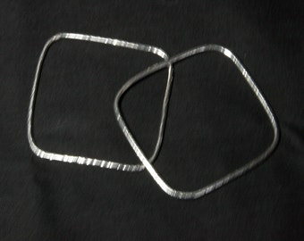 Individual Handmade Bangles in 925 Sterling Silver