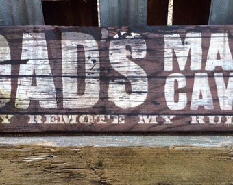 Handmade Wooden Dads Cave Fathers Day