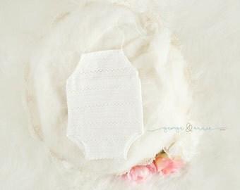 Rebecca Romper - Newborn & Sitter Romper - Photography Prop - Baby Girl