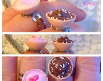 Rings desert ice cream bowl rings