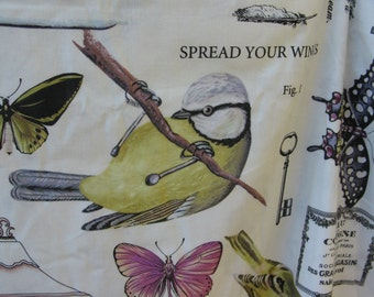 1/2 yar Winged Study fabric, The Botanika Collection by Paula Prass for Michael Miller Fabrics, DC4808