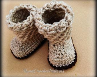 Baby Booties Crochet Pattern- Crochet Baby Booties Pattern - Instant Download