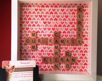Personalised family frame - Mother's day gift - birthday gift for mum - gift for her - family - mothers day present - personalised wall art