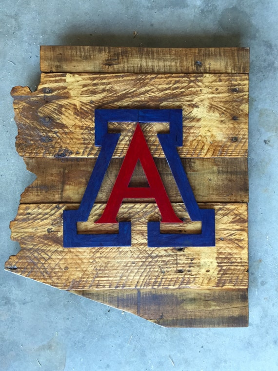 University Of Arizona Wood Sign Arizona Sign By