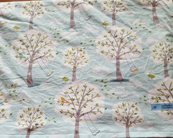 "Windy Day Baby Blanket-Cotton and Minky-Size 30""x40""-Ready To Ship"